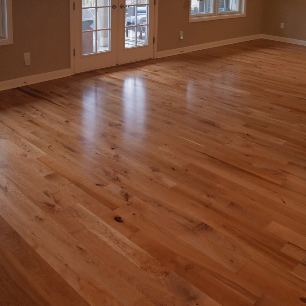 American Cherry Floor finished with Oil-based finish