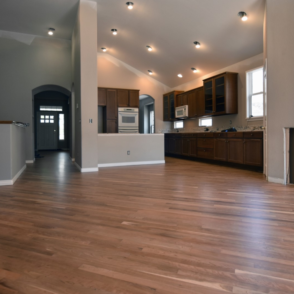 American Cherry Floor Stained Natural with Waterbased Finish
