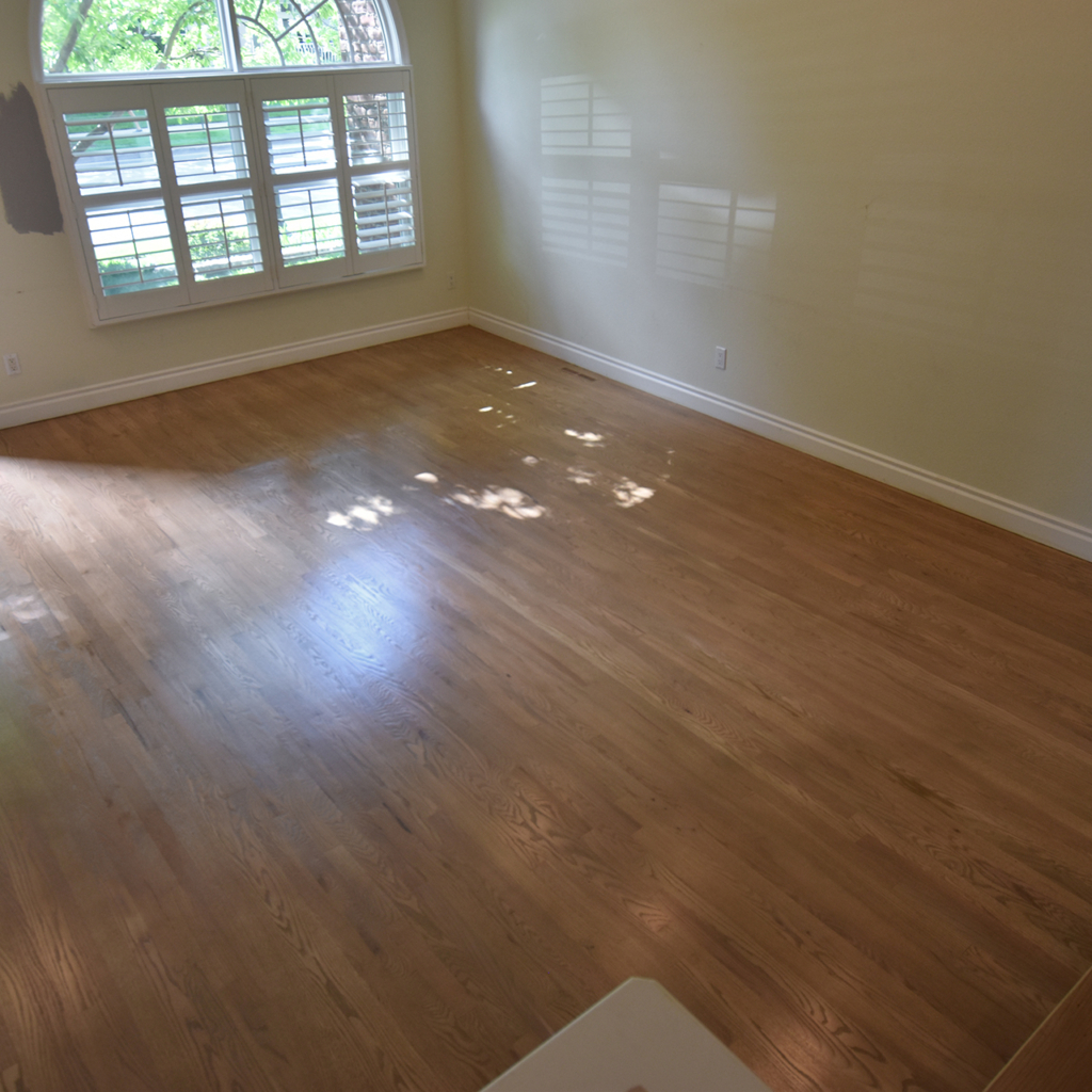 Red Oak Stained Bona Sand Dune