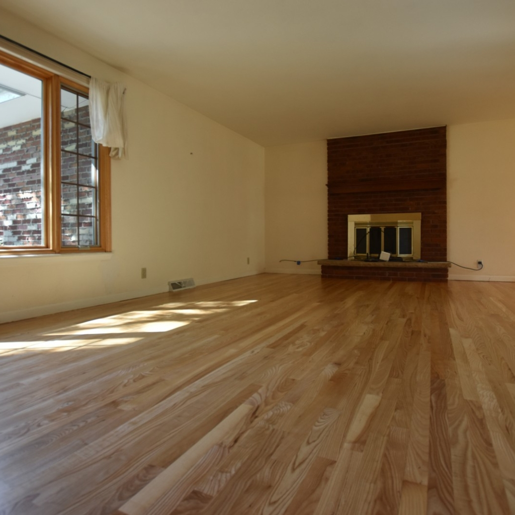Ash Hardwood Floors with natural stain