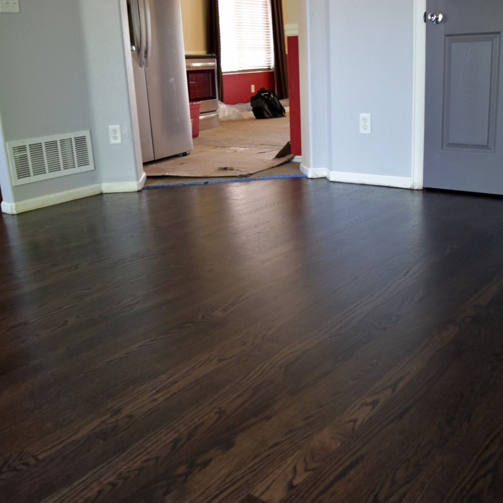 Red Oak. Coffee Brown Stain