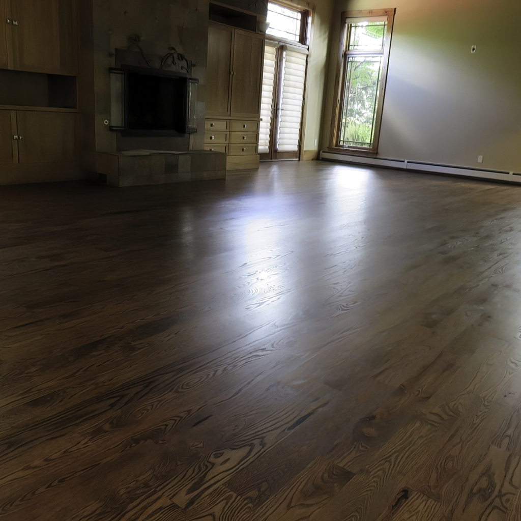 Ash Floors stained Chestnut in Greenwood Village, CO