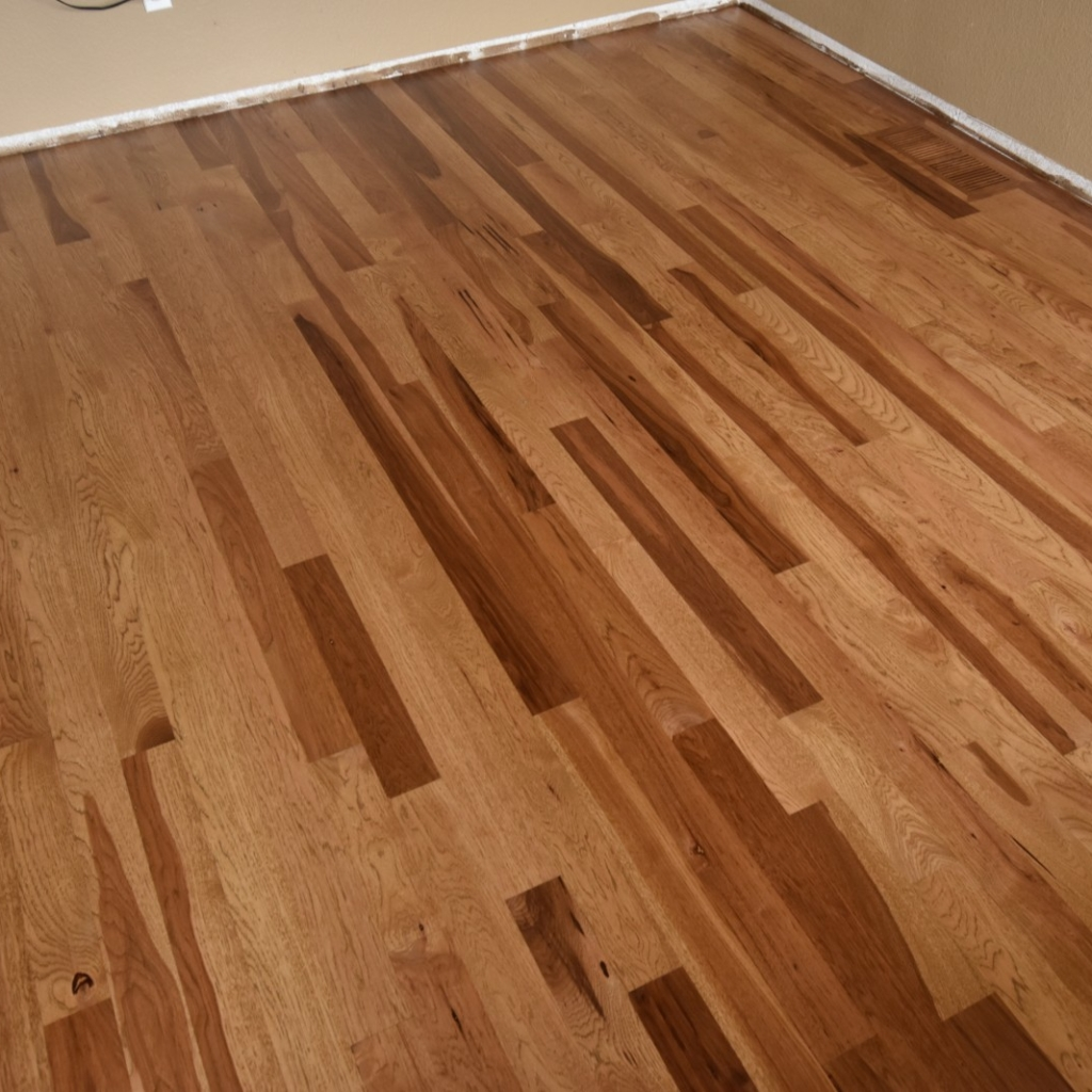 Early American Stain on Hickory Floor