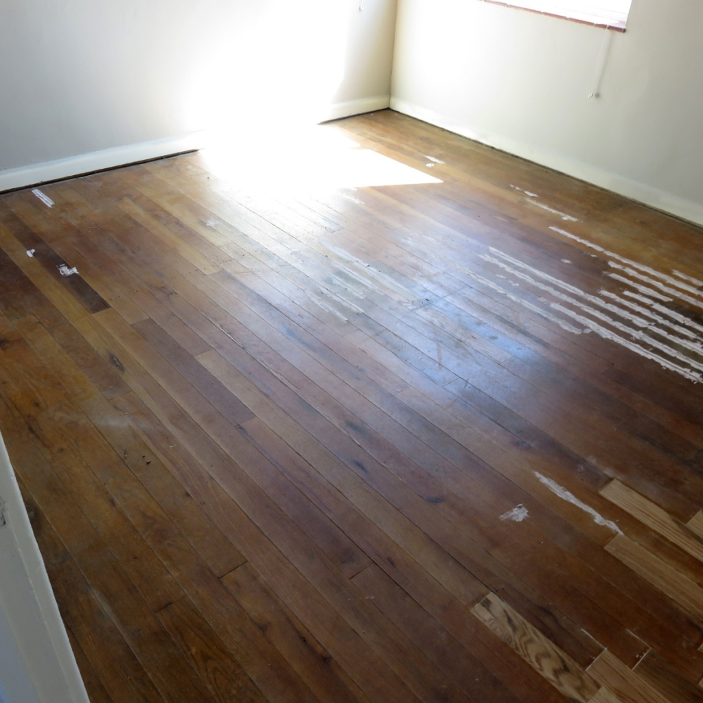Red & White Oaks Stained Natural - Before